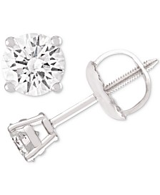 Diamond Stud Earrings (1/4 ct. t.w.) in 14k White Gold