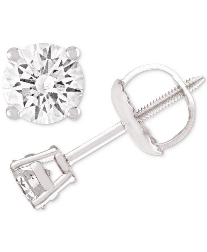 Macy's - Diamond Stud Earrings (1/4-2 ct. t.w.) in 14k White, Yellow or Rose Gold