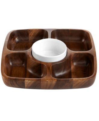 Acacia Wood 5 Section Tray, Created for Macy's