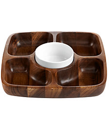 The Cellar Acacia Wood 5 Section Tray, Created for Macy's