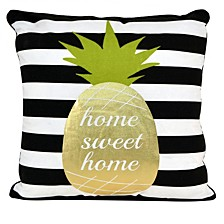 "Good Vibes Pineapple Pillow, 18"" x 18"""