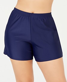 Island Escape Plus Size Swim Shorts, Created for Macy's