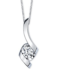 Sirena Diamond Pendant Necklace in 14k White Gold (1/2 ct. t.w.)