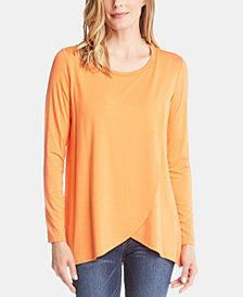 Karen Kane Long-Sleeve Crossover Top