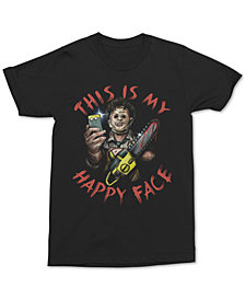 Texas Chainsaw Men's Selfie Happy Face Graphic T-Shirt