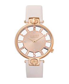 Versus Women's Kristenhof Beige Leather Strap Watch 34mm