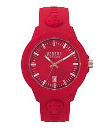 Versus Unisex Tokyo Red Silicone Strap Watch 43mm