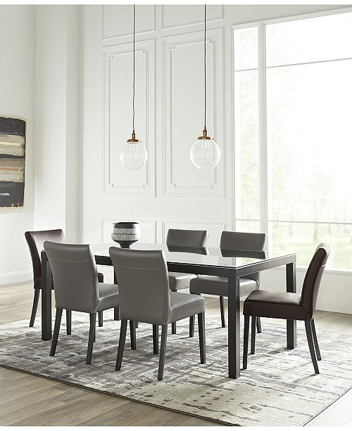 Closeout! Tate Glass Dining Table, Created for Macy\'s