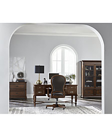 Clinton Hill Cherry Home Office Furniture, 2-Pc. Set (Writing Desk & Upholstered Desk Chair), Created for Macy's