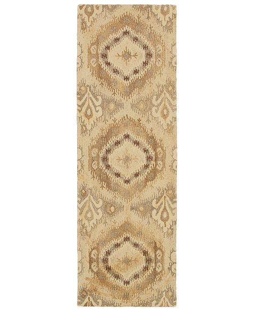 """Oriental Weavers Anastasia 68003 Sand/Ivory 2'6"""" x 8' Runner Area Rug"""