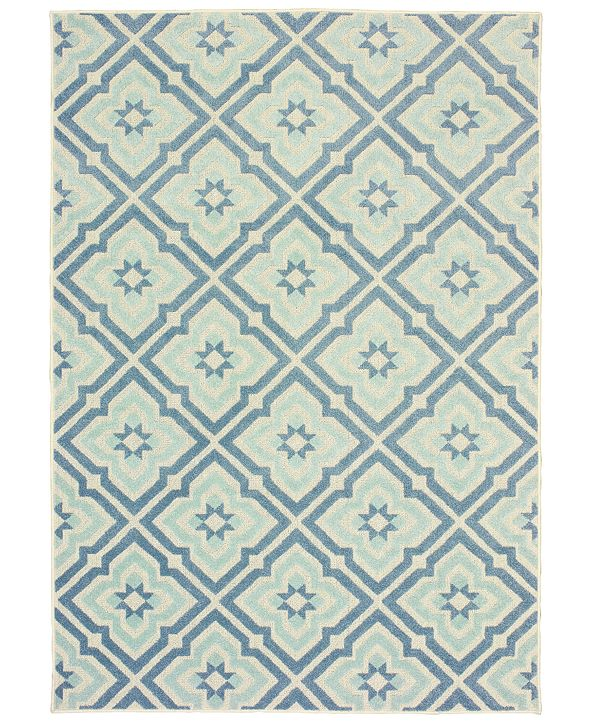 "Oriental Weavers Barbados 1801 7'10"" x 10' Indoor/Outdoor Area Rug"