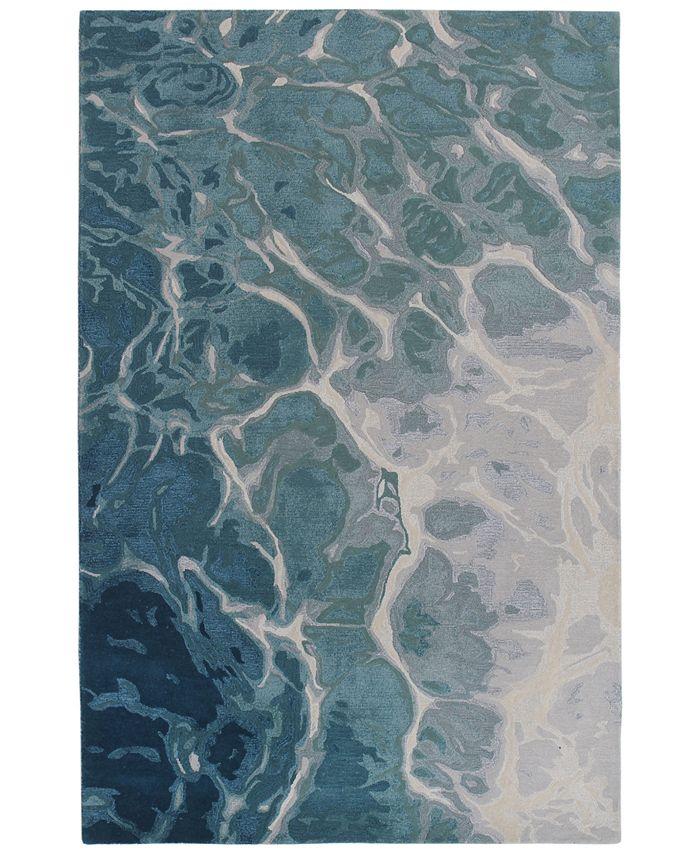 "Liora Manne' - Corsica 9146 Water 5' x 7'6"" Area Rug"