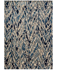 "Dreamscape DM-06 Artic Blue/Silver 7'10"" x 11' Area Rug"