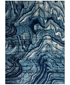 "Dreamscape DM-13 Indigo/Blue 7'10"" x 11' Area Rug"