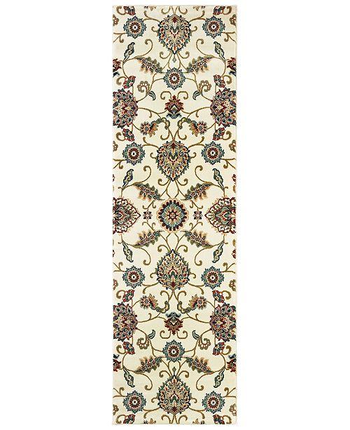 """Oriental Weavers Kashan 9946W Ivory/Multi 2'3"""" x 7'6"""" Runner Area Rug"""
