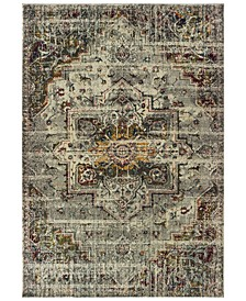 "Mantra 1901X Gray/Ivory 2'3"" x 7'6"" Runner Area Rug"