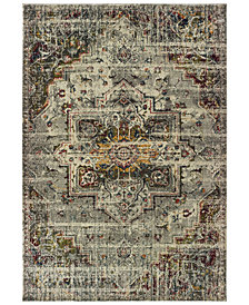 "Oriental Weavers Mantra 1901X Gray/Ivory 2'3"" x 7'6"" Runner Area Rug"