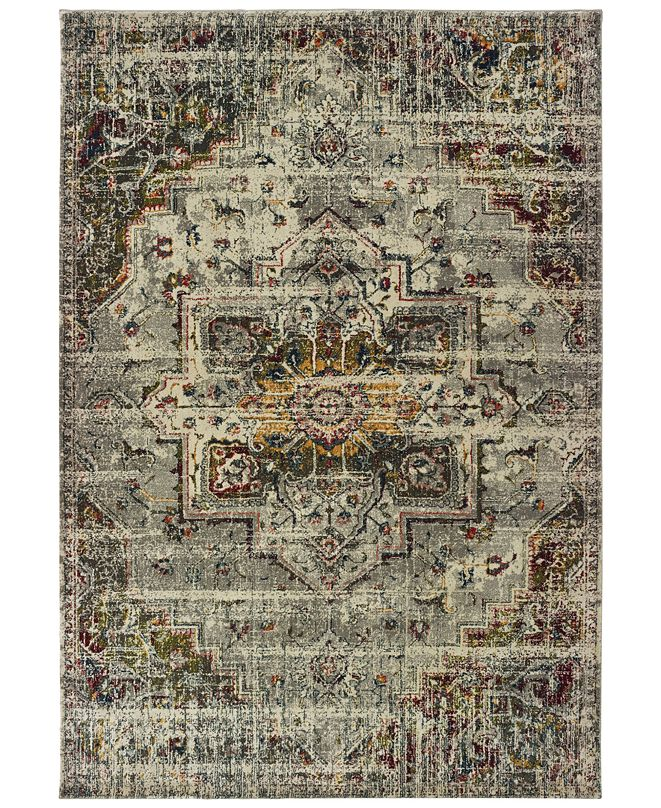 "Oriental Weavers Mantra 1901X Gray/Ivory 6'7"" x 9'6"" Area Rug"