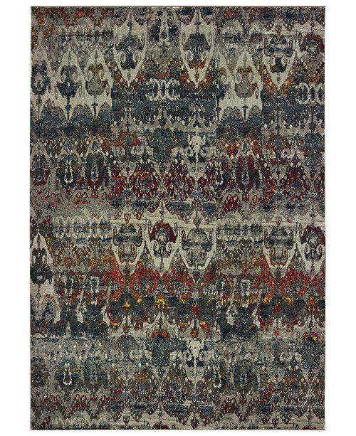 "Oriental Weavers Mantra 48V Gray/Multi 3'10"" x 5'5"" Area Rug"