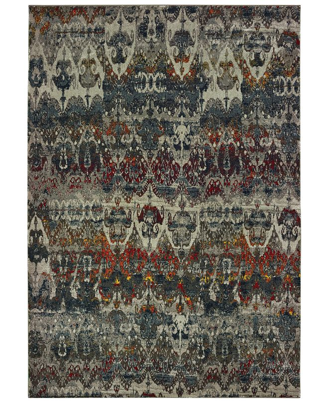"Oriental Weavers Mantra 48V Gray/Multi 9'10"" x 12'10"" Area Rug"