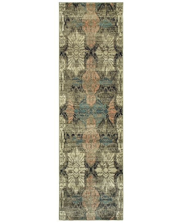 """Oriental Weavers Raleigh 2333Y Ivory/Gray 2'3"""" x 7'6"""" Runner Area Rug"""