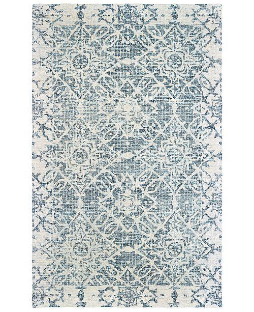 Oriental Weavers Tallavera 55603 Blue/Ivory 8' x 10' Area Rug
