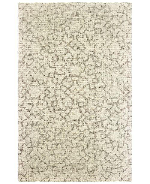 Oriental Weavers Tallavera 55608 Tan/Ivory 5' x 8' Area Rug