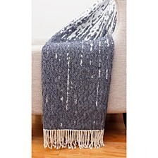 "Massi Fringe Decorative Knit Throw, 50"" x 60"""