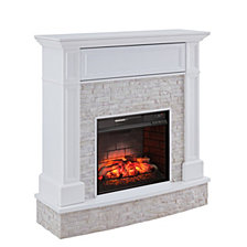 Blakely Faux Stone Media Fireplace