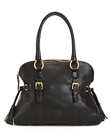 Dooney & Bourke Florentine Domed Buckle Leather Satchel
