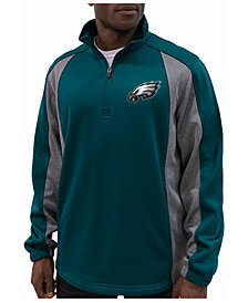 G-III Sports Men's Philadelphia Eagles Offsetting Penalty Quarter-Zip Pullover