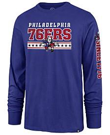 9e86c690246  47 Brand Men s Philadelphia 76ers Level Up Super Rival Long Sleeve T-Shirt  ·