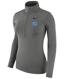 Nike Women's North Carolina Tar Heels Hyperwarm Quarter-Zip Pullover