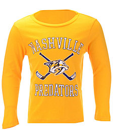 Outerstuff Nashville Predators Lines Crossed Long Sleeve T-Shirt, Toddler Boys (2T-4T)