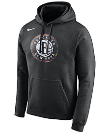 Nike Men's Brooklyn Nets City Club Fleece Hoodie