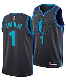 Nike Men's Dennis Smith Jr. Dallas Mavericks City Swingman Jersey 2018