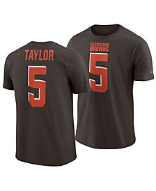 Men's Tyrod Taylor Cleveland Browns Pride Name and Number Wordmark T-Shirt
