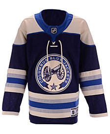 Outerstuff Columbus Blue Jackets Alternate Blank Premier Jersey, Big Boys (8-20)