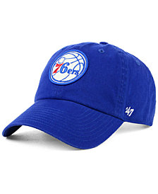 '47 Brand Women's Philadelphia 76ers Glitta CLEAN UP Strapback Cap
