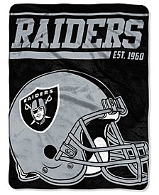 Oakland Raiders Micro Raschel 40 Yard Dash Blanket