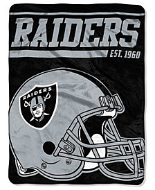 Northwest Company Oakland Raiders Micro Raschel 40 Yard Dash Blanket