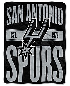 San Antonio Spurs Micro Raschel Clear Out Throw Blanket
