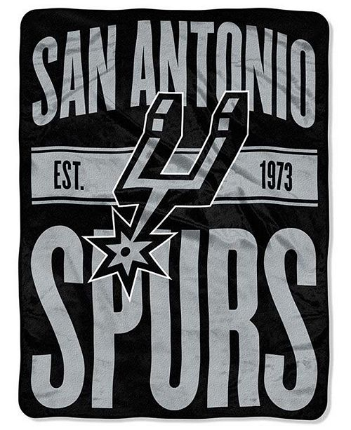 Northwest Company San Antonio Spurs Micro Raschel Clear Out Throw Blanket