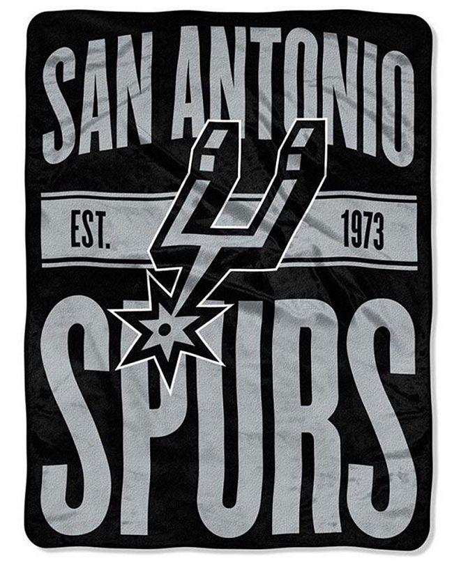 Northwest Company San Antonio Spurs Micro Raschel Clear Out Throw Blanket
