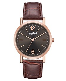 Men's Brown Synthetic Leather Sport Watch, 36MM