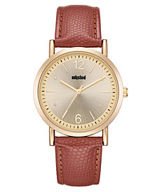 Unlisted Ladies Brown Synthetic Leather Sport Watch, 36.5MM