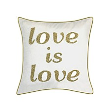 "Celebrations Pillow Beaded ""Love Is Love"""