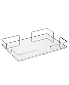 Home Details Modern Square Design Mirror Vanity Tray