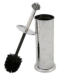 Bath Bliss Scalloped Design Toilet Brush Set