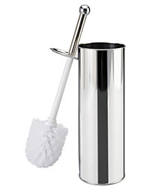 Bath Bliss Stainless Steel Toilet Brush and Holder